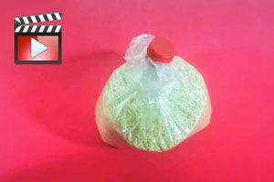 Ilustración de Cómo cerrar bolsas de nylon