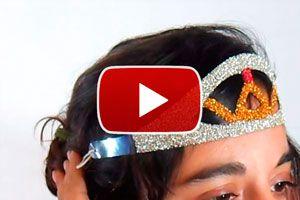 Guia para crear una tiara con una botella de plástico. Como reciclar botellas creando una tiara. Una tiara con una botella de plastico: reciclaje