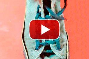 Como atar los cordones con nudo escalera. Formas de atar los cordones del calzado, nudo escalera. Nudos para atar el calzado
