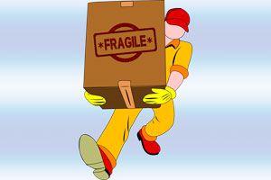 Ilustración de Cómo Reclamar un Producto Dañado Durante el Transporte