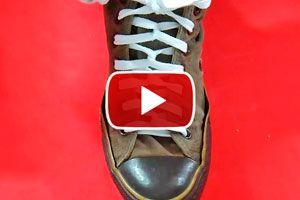 Como atar los cordones de las zapatillas. Formas de atar los cordones del calzado, nudo doble espiral. Nudos para atar el calzado