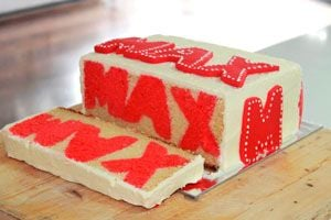 Cómo hacer un pastel con nombre dentro. Pastel de cumpleaños con nombre. Preparación de un bizcochuelo relleno con nombres o letras