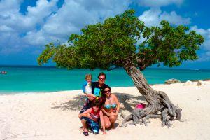 Ilustración de Lugares para ir de Vacaciones en Familia