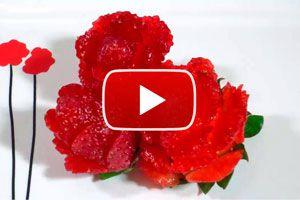 Frutillas con Forma de Flor para Decorar