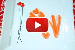 Ilustración de Cómo hacer Zanahorias con Forma de Corazón