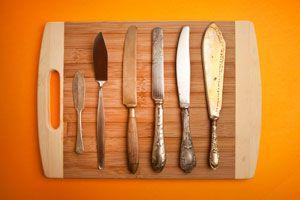 Una Tabla Magnética para Colgar Cuchillos