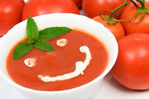 Ilustración de Receta de Sopa Casera de Tomates