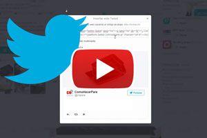 Cómo insertar un tuit en un post. Añadir un tweet en una pagina web o blog. Cómo compartir un tweet en un articulo web. Pasos para insertar un tweet