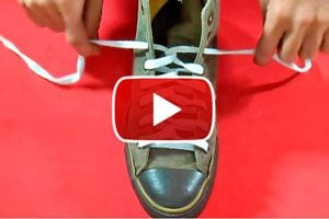 Como atar los cordones con nudo retorcido. Formas de atar los cordones del calzado, nudo retorcido. Nudo para atar el calzado converse o vans