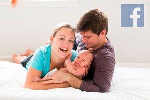 Ilustración de Grupos de Facebook para Padres Primerizos