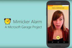Alarma para despertar de buen humo. Aplicación para despertar de buen humor. Mimicker alarm, despertador para imitar gestos