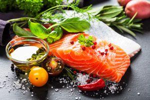 Ilustración de Alimentos con Ácidos Grasos Omega 3