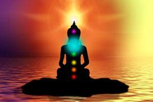 Ilustración de Meditación para Desbloquear el Quinto Chakra