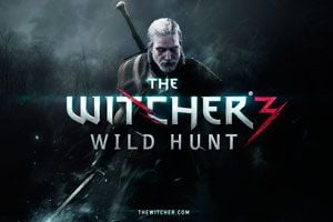 Portada del juego The Witcher 3: Wild Hunt.