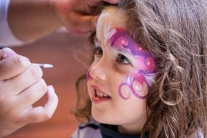 Ilustración de Cómo hacer Pintura Facial para Niños