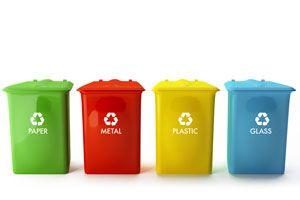Guía para clasificar la basura. Cómo recolectar la basura en casa. Reciclar la basura de acuerdo a su material. Separar la basura en tachos de color