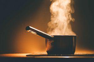 Olla con vapor para cocinar verduras sin vaporera