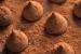 Trufas de Chocolate y Vino Tinto